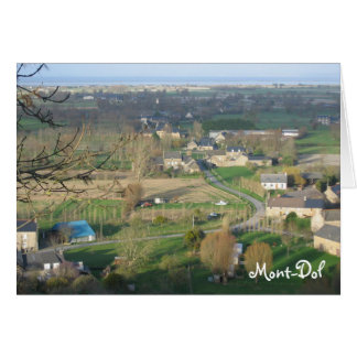 Mont-Dol, Brittany France Card