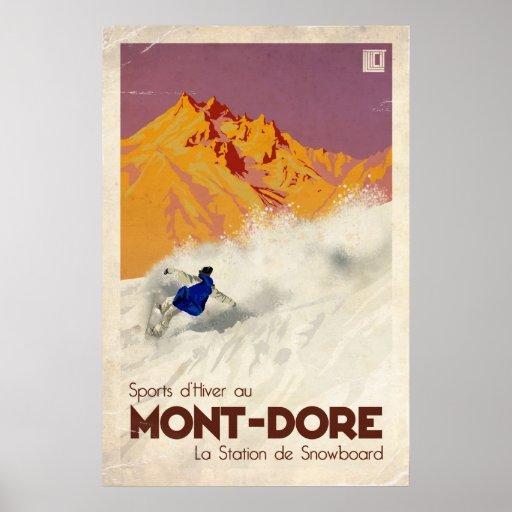 Mont Dore - Vintage Effect Posters