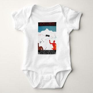 Mont Geneva Vintage Tourism Poster Baby Bodysuit