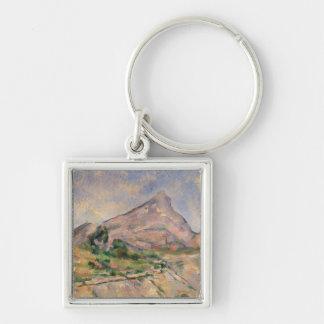 Mont Sainte-Victoire, 1897-98 Silver-Colored Square Key Ring