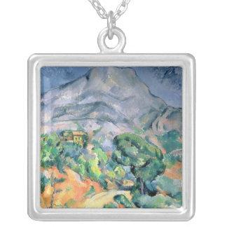 Mont Sainte-Victoire, 1900 Silver Plated Necklace
