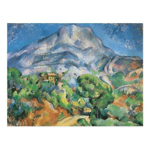 Mont Sainte Victoire Above the Tholonet by Cezanne Postcards