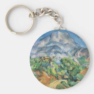 Mont Sainte Victoire Above Tholonet, Paul Cezanne Basic Round Button Key Ring