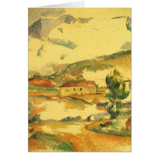 Mont Sainte Victoire by Cezanne Vintage Fine Art Greeting Card