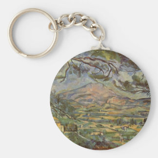Mont Sainte-Victoire by Paul Cézanne Basic Round Button Key Ring