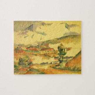 Mont Sainte Victoire by Paul Cezanne, Vintage Art Jigsaw Puzzle