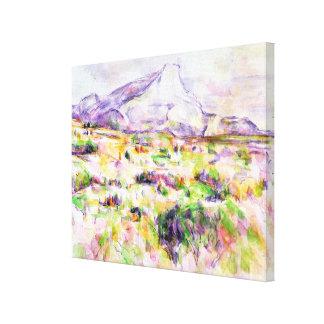 Mont Sainte-Victoire from Les Lauves Canvas Print