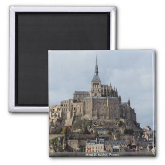 Mont St. Michel, France Square Magnet