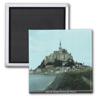 Mont St. Michel, Normandy, France Square Magnet