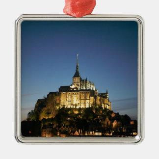 Mont St Michel Silver-Colored Square Decoration