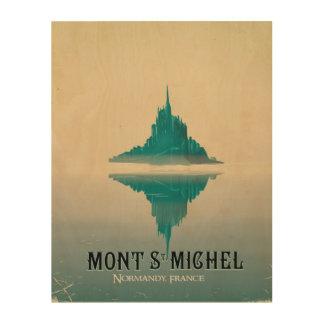 mont st michel vintage Travel poster