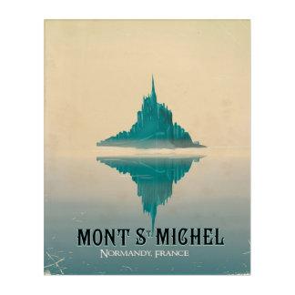 mont st michel vintage Travel poster Acrylic Print