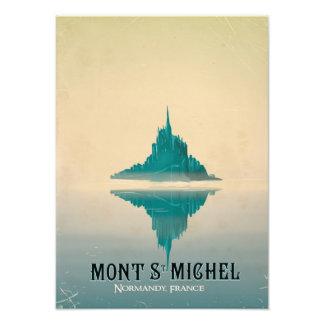 mont st michel vintage Travel poster Photo