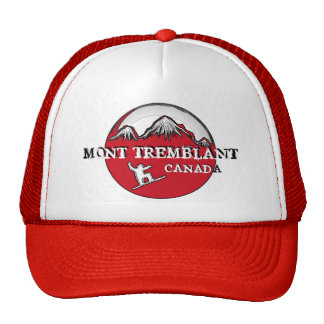 Mont Tremblant Canada red theme snowboard hat