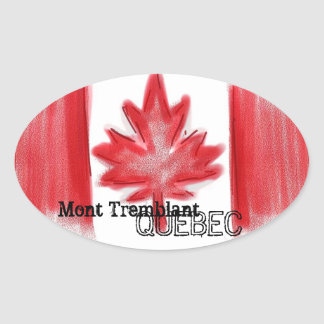 Mont Tremblant Quebec canadian flag stickers