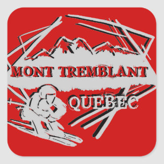 Mont Tremblant Quebec ski logo red stickers