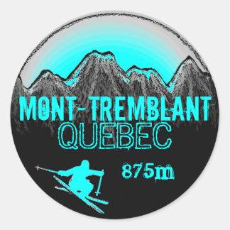 Mont Tremblant Quebec ski teal art stickers