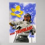 """Mont Tremblant"" Vintage Travel Posters"