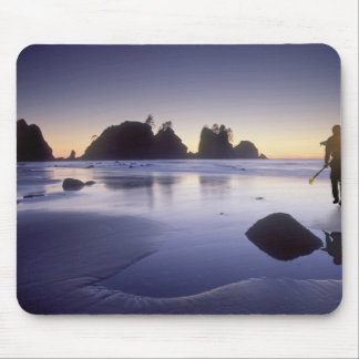 Montage of man carrying kayak, ShiShi Beach, Mouse Pad