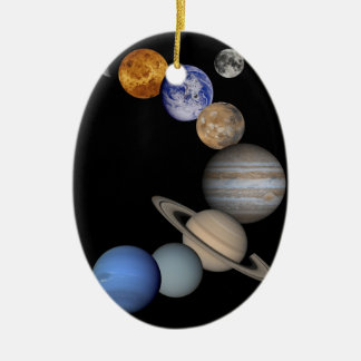 Montage of Planets in Space Christmas Ornament