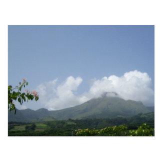Montagne Pelée - Martinique, F.W.I. Postcard