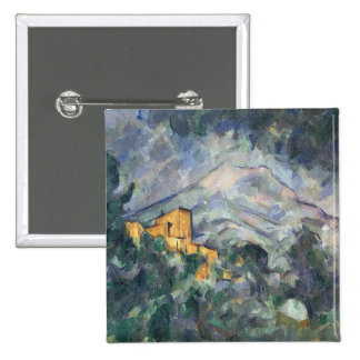 Montagne Sainte-Victoire and the Black Chateau 15 Cm Square Badge