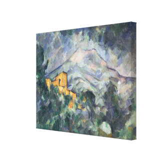 Montagne Sainte-Victoire and the Black Chateau Canvas Print