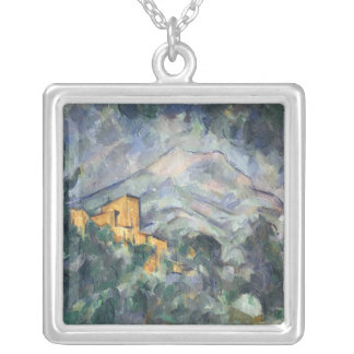 Montagne Sainte-Victoire and the Black Chateau Silver Plated Necklace