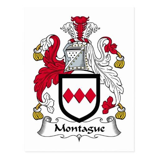 Montague Family Crest Post Card