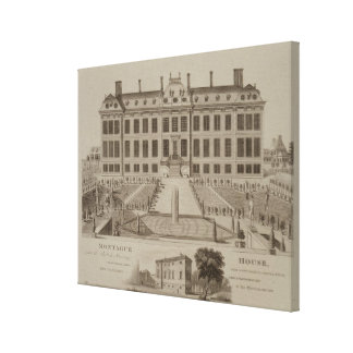 Montague House, now the British Museum, 1813 (engr Canvas Print