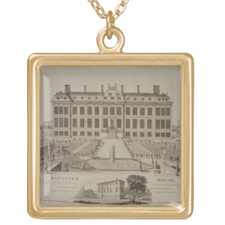 Montague House, now the British Museum, 1813 (engr Gold Plated Necklace