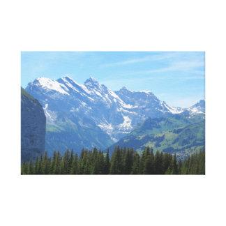 Montains in Switzerland Canvas Print