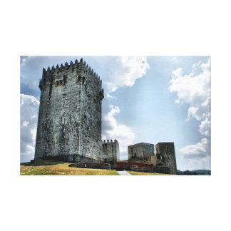 Montalegre Castle in Portugal Stretched Canvas Prints