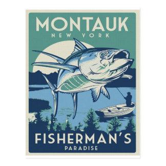 Montalk, NY VIntage Travel Poster Postcard
