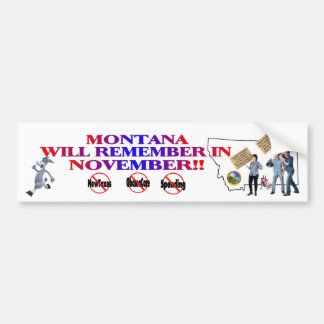 Montana - Anti ObamaCare, New Taxes & Spending Bumper Sticker