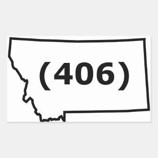 Montana Area Code Sticker