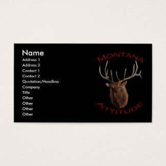 Montana Attitude Business Card