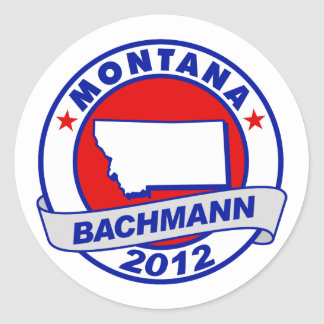 Montana Bachmann Round Sticker