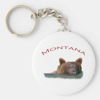 Montana Basic Round Button Key Ring