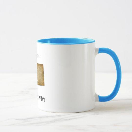 Montana Big Sky Country Blue Ringer Mug
