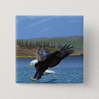 Montana -- Big Sky CountryDiving Eagle 15 Cm Square Badge