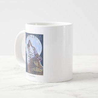 Montana -- Big Sky CountryHowling Wolf Giant Coffee Mug