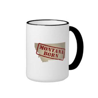 Montana Born - Stamp on Map Mug