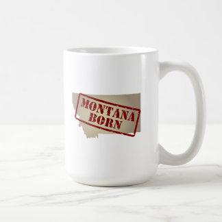 Montana Born - Stamp on Map Basic White Mug
