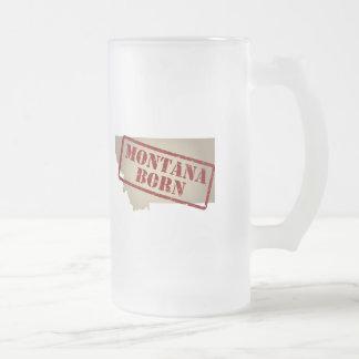 Montana Born - Stamp on Map Coffee Mug