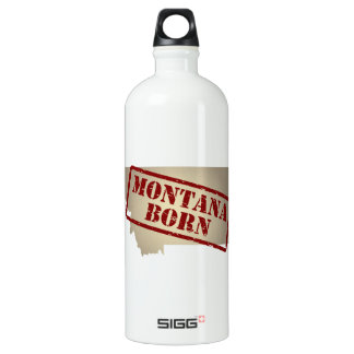 Montana Born - Stamp on Map SIGG Traveller 1.0L Water Bottle