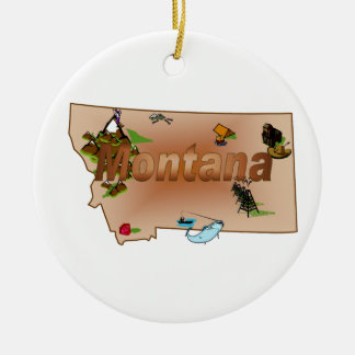 Montana Christmas Tree Ornament