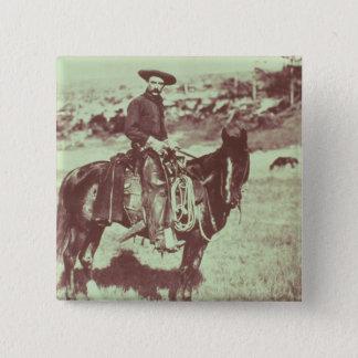 Montana Cowboy, c.1880 (b/w photo) 15 Cm Square Badge