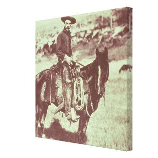 Montana Cowboy, c.1880 (b/w photo) Canvas Print