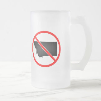 Montana Cross Out Symbol Frosted Glass Mug
